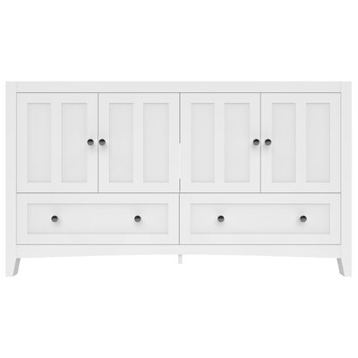 Shaker Modern 59 Bathroom Vanity Base Set Base Finish: White
