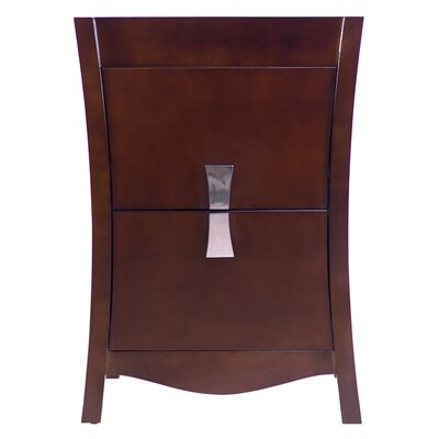 Bow 24 Modern Vanity Base Base Finish: Coffee