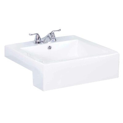 Battershell 49 Single Bathroom Vanity Set Base Finish: White/Dawn Gray, Faucet Mount: Single