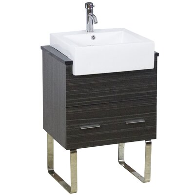 Mulberry Floor Mount 62 Single Bathroom Vanity Set Faucet Mount: Single Hole