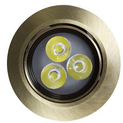 3.5 LED Recessed Retrofit Downlight Finish: Antique Brass