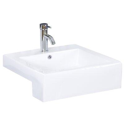 Mulberry Wall Mount 48 Single Bathroom Vanity Set Faucet Mount: Single Hole