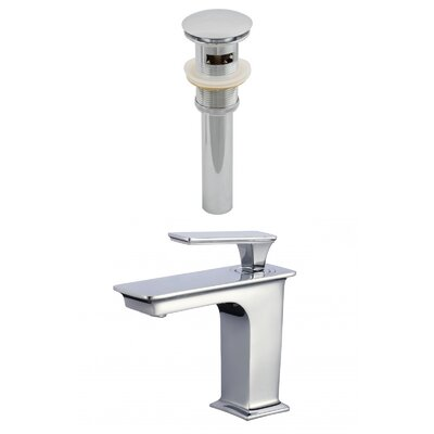 Single Handle Bathroom Faucet with Drain Assembly Overflow Hole: Yes