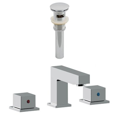 Widespread Double Handle Bathroom Faucet with Drain Assembly Overflow Hole: Yes