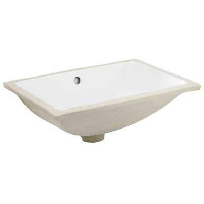 Ceramic Rectangular Undermount Bathroom Sink with Overflow Drain Finish: Brushed Nickel, Size: 14.35 H x 20.75 W x 8.25 D, Certification: CSA