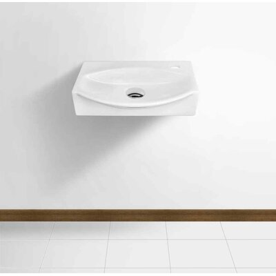 Ceramic 16.5 Bathroom Sink with Faucet Installation Type: Wall Mount Sinks