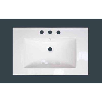 3 Hole Ceramic 24 Single Bathroom Vanity Top