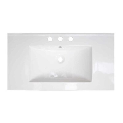 3 Hole Ceramic 32 Single Bathroom Vanity Top