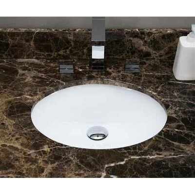 CSA Ceramic Oval Undermount Bathroom Sink with Faucet and Overflow