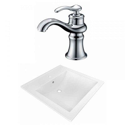 Ceramic 22 Single Bathroom Vanity Top