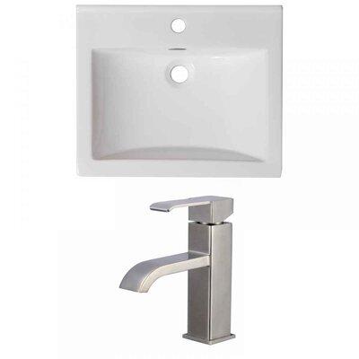 Vee Ceramic 21 Single Bathroom Vanity Top