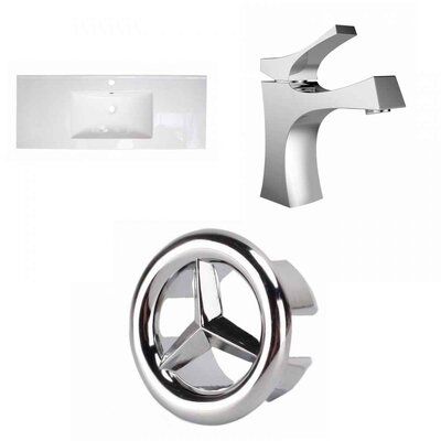 Flair Ceramic 49 Single Bathroom Vanity Top