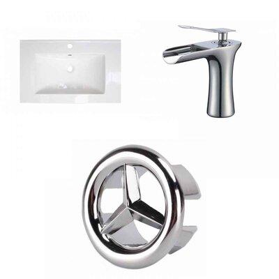 Ceramic 25 Single Bathroom Vanity Top