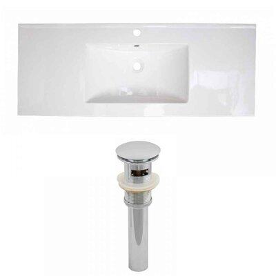 1 Hole Ceramic 48 Single Bathroom Vanity Top