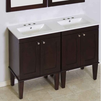 Harrop 48 Double Bathroom Vanity Set Faucet Mount: 4 Centers