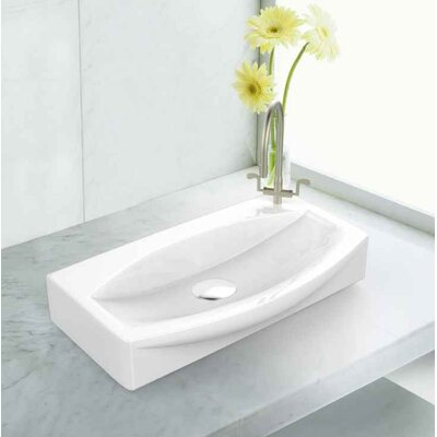 Ceramic 16.5 Bathroom Sink with Faucet Installation Type: Vessel Sinks