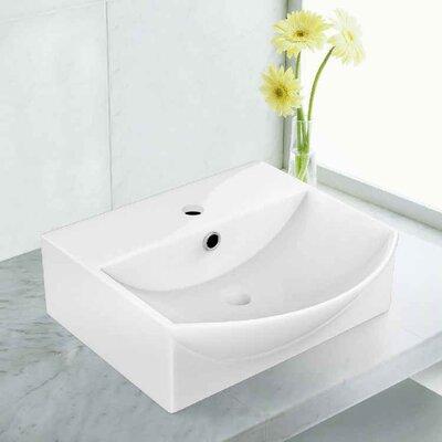 Ceramic 13.75 Bathroom Sink with Overflow Installation Type: Vessel Sinks