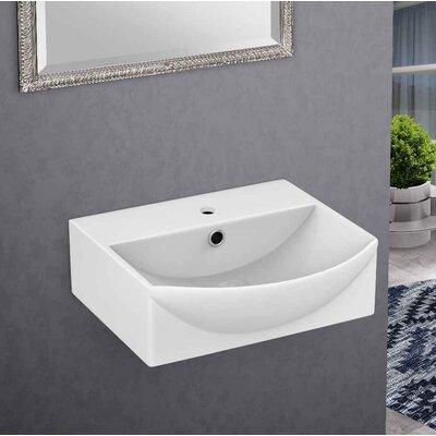 Ceramic 13.75 Bathroom Sink with Overflow Installation Type: Wall Mount Sinks