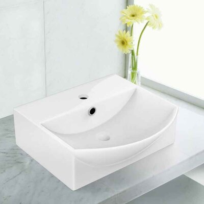 Ceramic 13.75 Bathroom Sink with Faucet Installation Type: Vessel Sinks