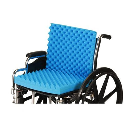 3 Convoluted Seat And Back Foam Cushion For 18 X 16 Wheelchair image