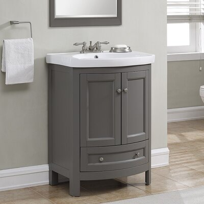 Brook Hollow 25 Single Vanity Set Base Finish: Graphite Gray