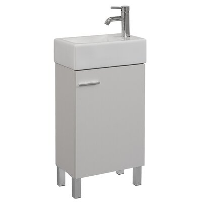 Quality Combo Vitreous China 18 Console Bathroom Sink with Overflow