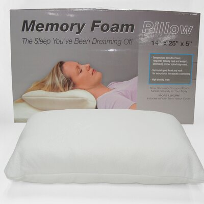 Chopped Memory Foam Standard Pillow