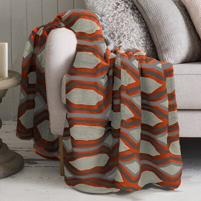 Robin Polyester Blanket Color: Orange
