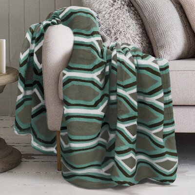Lauren Taylor Polyester Blanket Color: Ocean