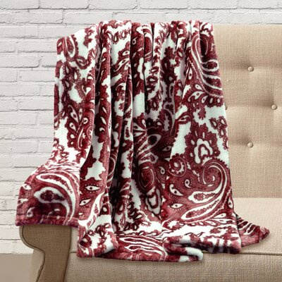 Carnlough Polyester Throw Color: Berry