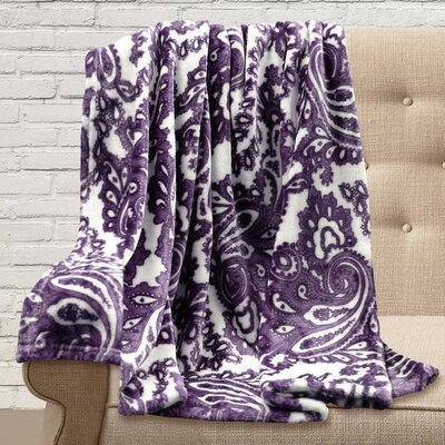Carnlough Polyester Throw Color: Plum