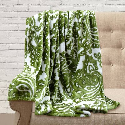 Carnlough Polyester Throw Color: Pistachio