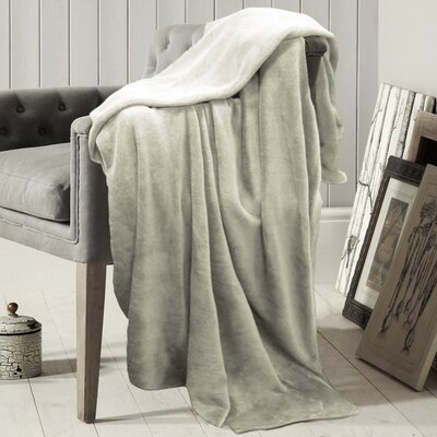 Carnside Polyester Blanket Color: Ivory