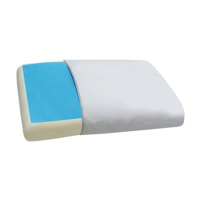 White/Blue Memory Foam Standard Pillow