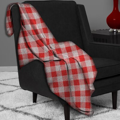 Polyester Blanket Color: Red / White