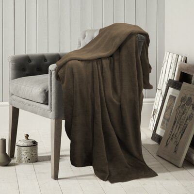 Carnside Polyester Blanket Color: Brown