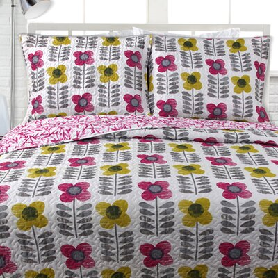 Lauren Taylor Quilt Set Color: Rose, Size: Full / Queen