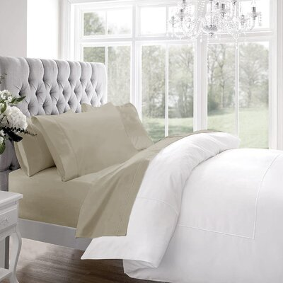 Blanc De Blancs 1200 Thread Count Sheet Set Size: King, Color: Linen