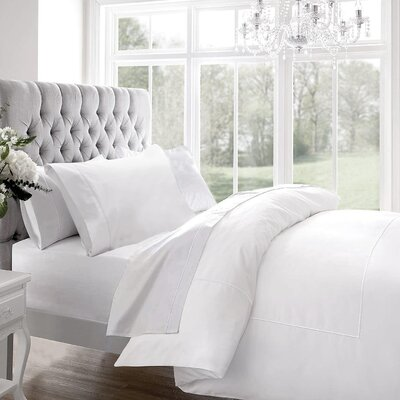 Blanc De Blancs 1200 Thread Count Sheet Set Size: King, Color: White