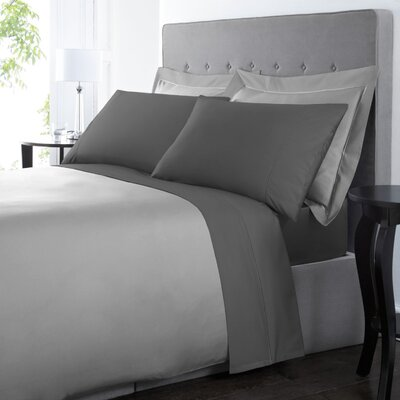 Blanc De Blancs 1000 Thread Count Sheet Set Size: King, Color: Charcoal