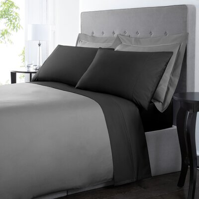 Blanc De Blancs 1000 Thread Count Sheet Set Size: Queen, Color: Black