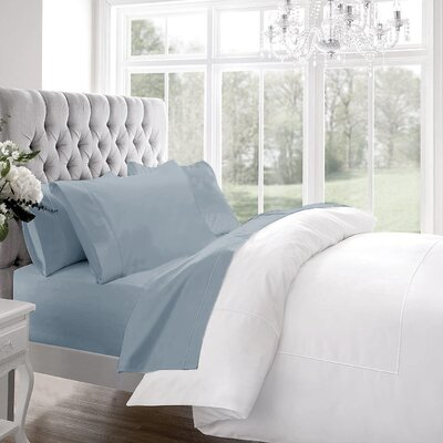 Blanc De Blancs 1200 Thread Count Sheet Set Size: Queen, Color: Light Denim