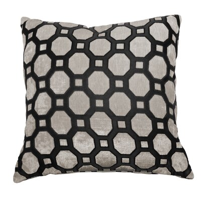 Niki Circle Jacquard Polyester Throw Pillow