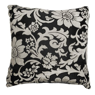 Adrien Lewis Floral Jacquard Polyester Throw Pillow