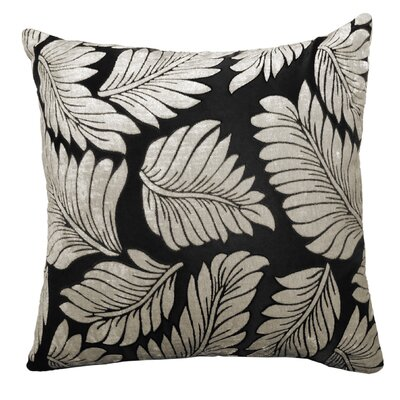 Adrien Lewis Leaf Jacquard Polyester Throw Pillow