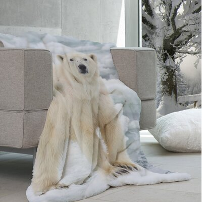 Lauren Taylor - Wildlike Micromink Polar Bear Throw