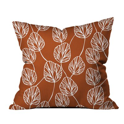 Adrien Lewis Cotton Throw Pillow Color: Orange