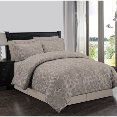 Lauren Taylor Bastille 4 Piece Comforter Set Size: Full, Color: Taupe