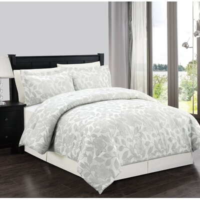 Cochrane 4 Piece Comforter Set Size: King, Color: Ivory