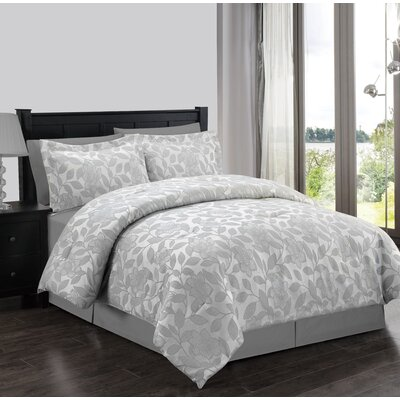 Cochrane 4 Piece Comforter Set Size: Full, Color: Grey